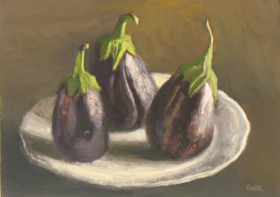 Three Eggplants